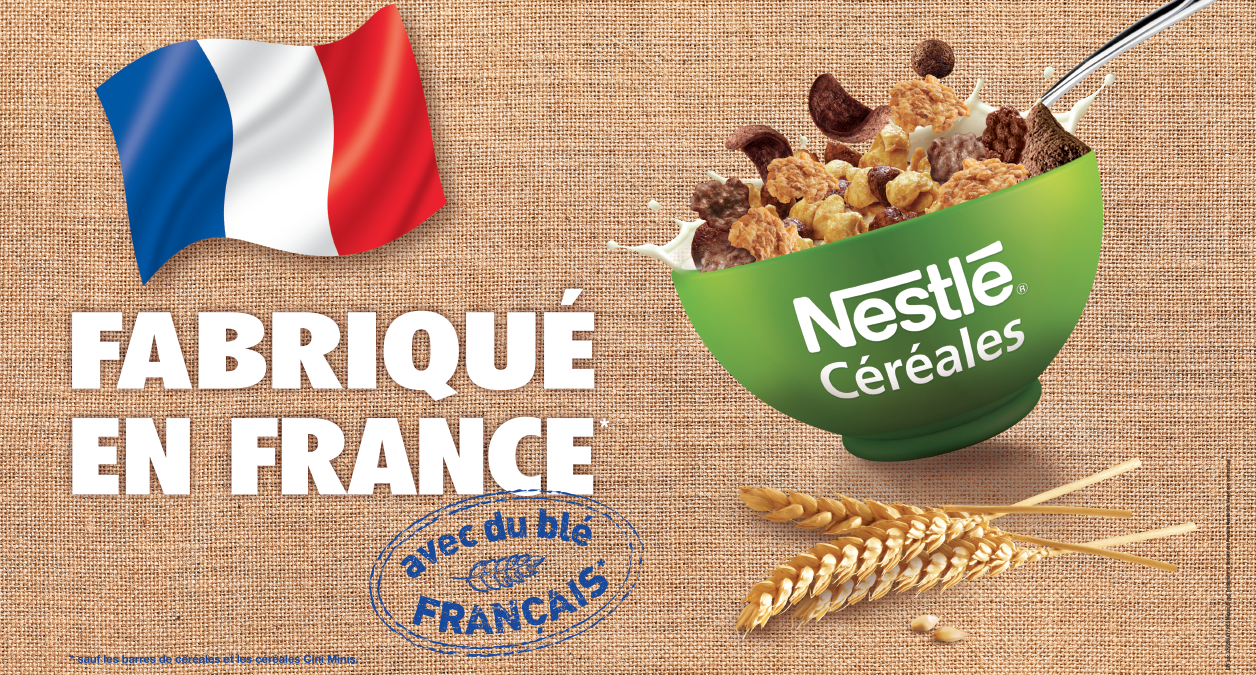 Agence communication Rangoon - shopper marketing Cereales Nestle engagement made in france